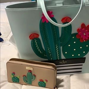 Leather tote, &. wallet